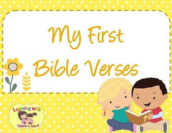 My First Bible Verses Posters Cards Complete Set