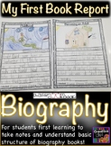 My First Biography Book Report! Use with any biography book!