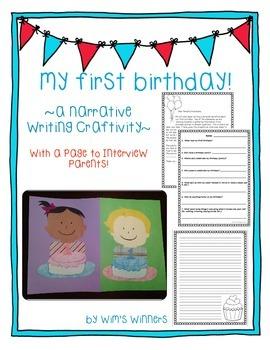 Writing Craftivity: My First Birthday!