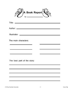 My First Book Report (Book Reports)