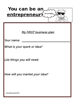 My First Business Plan