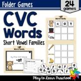 CVC Words Short Vowel Folder Games