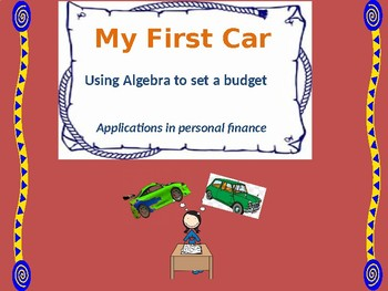 My First Car - The Algebra of Personal Finance