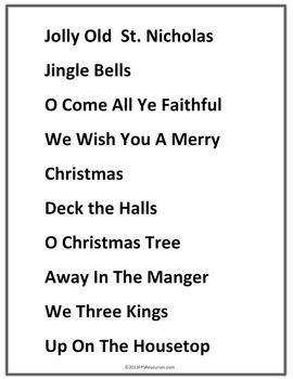 My First Christmas Songs (finger numbers)