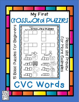 My First Crossword Puzzles - CVC Crosswords for Beginners