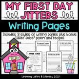 My First Day Jitters Writing Prompt Poem Recipe Back to Sc
