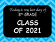 My First Day, My Last Day of School Years Blue Chevron 2017-2029