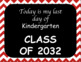 My First Day, My Last Day of School Years Red Chevron 2017-2029