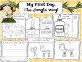 My First Day, The Jungle Way! First Day of School Kindergarten Jungle Printables
