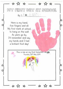 My First Day at School Handprint