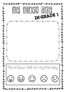My First Day in Grade 1