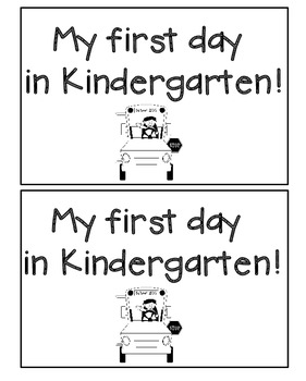 My First Day in Kindergarten Emergent Reader