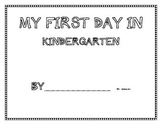 My First Day in Kindergarten ~ Student book