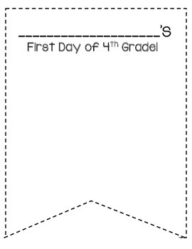 My First Day of School (K-5) Pennant!