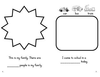 First Day of Kindergarten - booklet