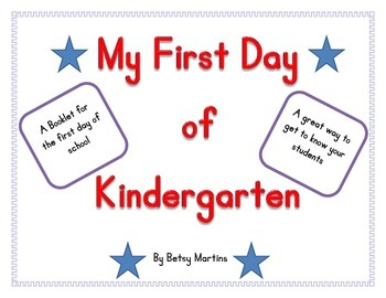 First Day of Kindergarten - booklet
