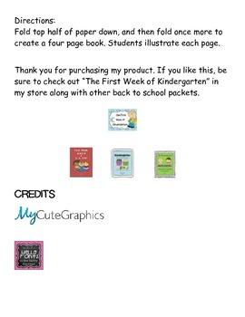 My First Day of Kindergarten! (print & fold book)
