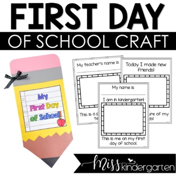 First Day of School Activities and Craft