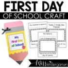 My First Day of School- A Keepsake Book