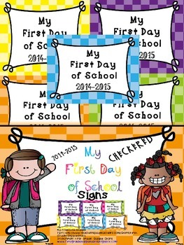 My First Day of School (( CHECKERED )) Signs