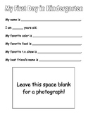 My First Day of School (Information Form)