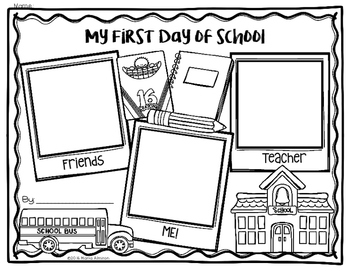 My First Day of School Keepsake Coloring Pages {My Monthly FREEBIE}