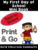 My First Day of School Mini-book