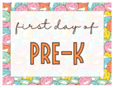 My First Day of School Signs (editable)