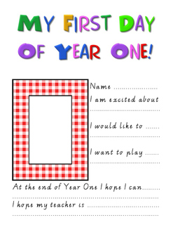 My First Day of Year One