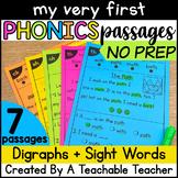 Digraphs Decodable Reading Passages for Kindergarten