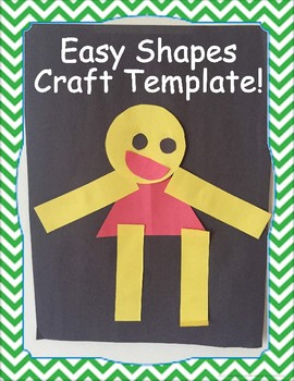 My First Glue Project: Easy Shapes Person! Craft Template