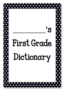 My First Grade Dictionary