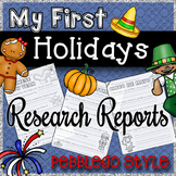 Holiday Research Reports {Perfect for PebbleGo}