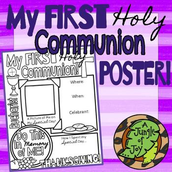 My First Holy Communion Poster!