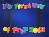 My First/Last Day Font for Photo Frame