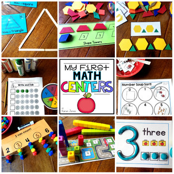 My First MATH Centers  {Kindergarten}