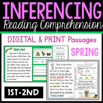 Making Inferences Close Reading Spring
