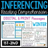 Winter Reading Comprehension Passages & Questions - Making Inferences (1st-2nd)