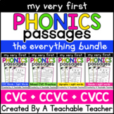 My First Phonics Passages BUNDLE for CVC, CCVC, and CVCC