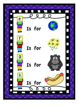"""""""My First Readers Theatre"""" Learning My Letters With Characters E, F, G & H"""