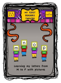 """""""My First Readers Theatre"""" Learning My Letters With Charac"""