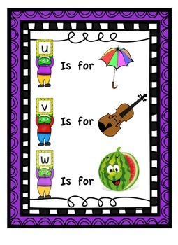 """""""My First Readers Theatre"""" Learning My Letters With Characters U, V & W"""