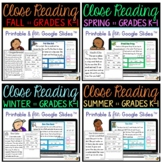 Reading Comprehension Passages and Questions for Beginners - Bundle