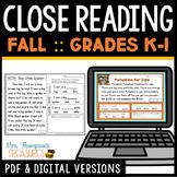 Reading Comprehension for Beginners - Fall {October November December}