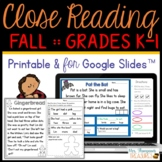 Reading Comprehension for Beginners - Fall {October November December}