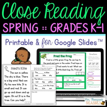 Close Reading for Beginners - Spring {April, May, June}