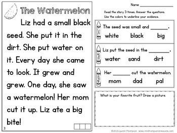 Reading Comprehension for Beginners - Summer {July, August, September}