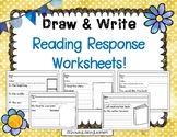 Draw and Write Reading Response Worksheets