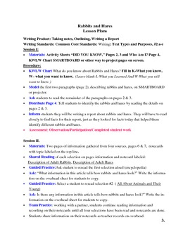 Report Using Note Cards