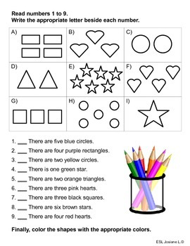 My First Shapes: For Pre-K, K, Grade 1 students or ESL learners